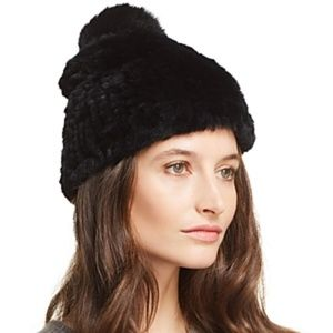 Mackage Arezzo   Rex Rabbit Fur & Fox Fur Beanie